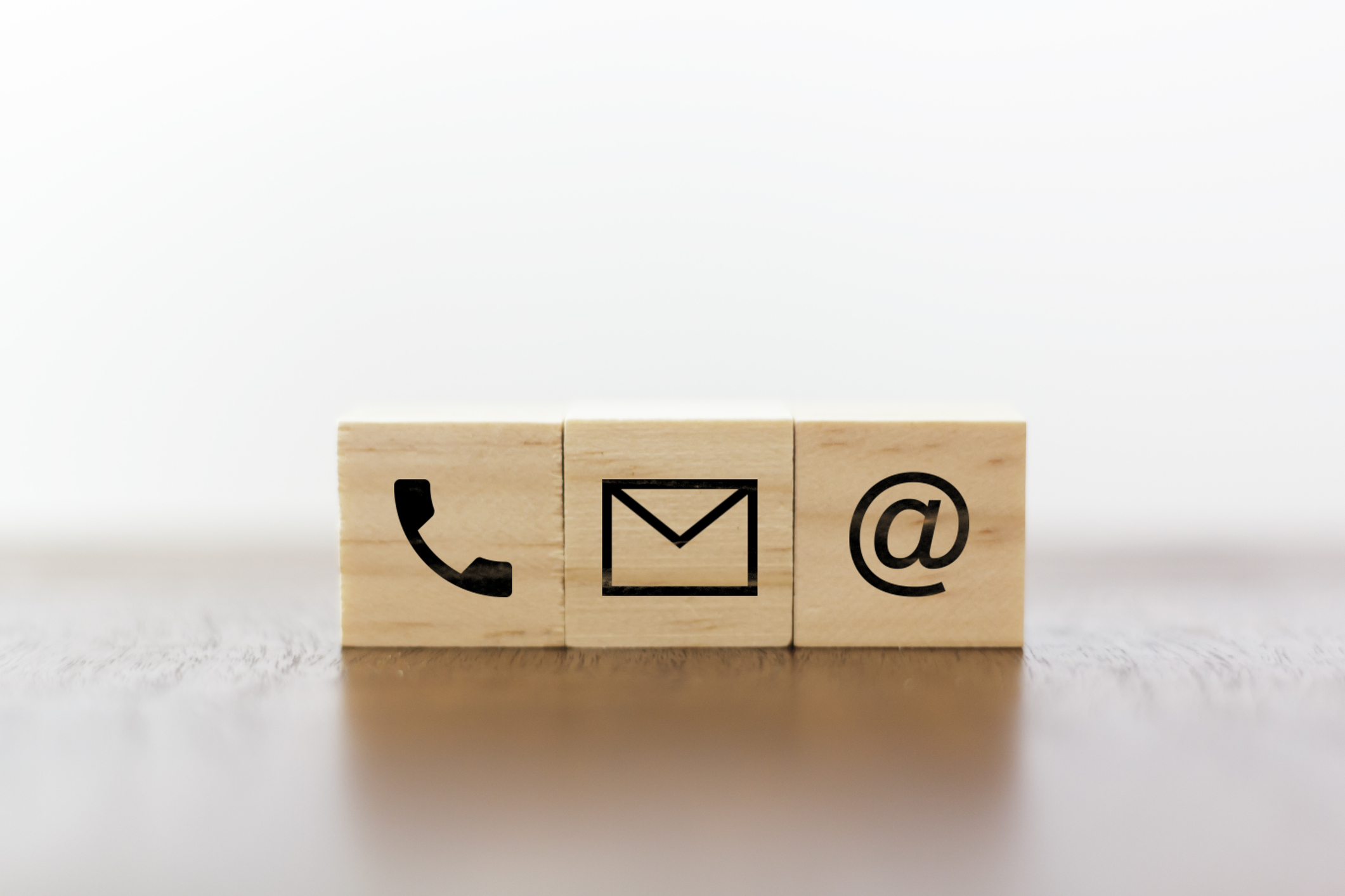 Contact Blocks with phone, mail, and @